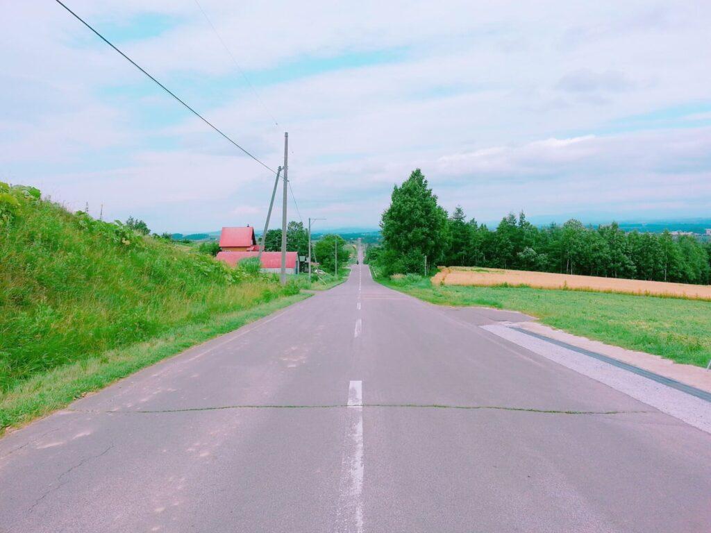 田舎-車道-白線